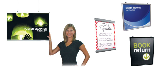Suspended snap frame and snapping signage best for T shirt printing smyrna ga